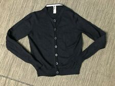 Margaret Howell MHL Adult Womens Small Cardigan Sweater Button Up Black