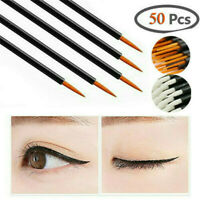 50PCS New Disposable Lip Lipstick Gloss Wands Brush Applicator Makeup Tool Stick