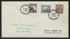 1943 Philippines Japan Occupied Scott #N20-N22 First Day Cover