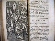 HISTOIRE DE DON GUZMAN D' ALFARACHE T. 1 - 1705 - 5 gravures en taille douce