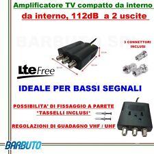 AMPLIFICATORE DI LINEA TV  112db 2out  MIGLIORA/POTENZIA IL SEGNALE TV GE33005