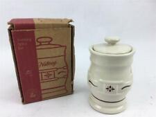 Longaberger Pottery Spice Jar Nutmeg New In Box