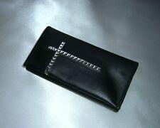 Tabaktasche Tabakbeutel Lederetui Leder schwarz Kreuz tobacco pouch leather