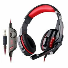 3.5mm RED Gaming MIC LED Light Headset CellPhone Headphone For PS4 Xbox One Slim