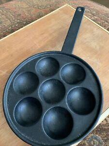 Vintage Aebleskiver Pan Cast Iron