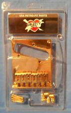 NEW GOLD CONTEMPORARY GUITAR BRIDGE 6 SADDLE FOR FENDER TELECASTER GUITAR