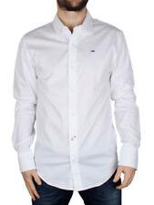 Camicie casual da uomo bianche in denim