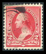 US #220; 2¢ WASHINGTON, XF-USED, PSE GRADED 90J, SMQ $70