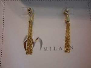 Milaan Designer 14K Yellow Gold Over Sterling Silver Tassel Earrings