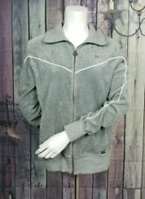 Women's Gray NIKE Hoodie Track Jacket Sweatshirt Size Large 12-14 Zip Up Velour