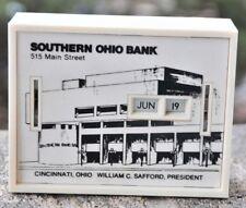 VTG  ADVERTISING SOUTHERN OHIO BANK COIN/STILL & CALENDAR BANK WITH KEY