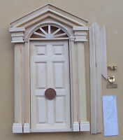 1:12 Scale Wooden Door With Handles Knocker & Letter Box Tumdee Dolls House 08