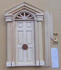 ESTERNO PORTA IN LEGNO CON MANICI Knocker & LETTER BOX bambole Casa In Miniatura 08