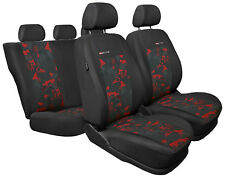 Car seat covers fit Dacia Duster full set - charcoal grey/red Velour