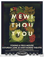 MEWITHOUTYOU/FOXING/FIELD MOUSE 2015 PORTLAND CONCERT TOUR POSTER-Art Rock Music