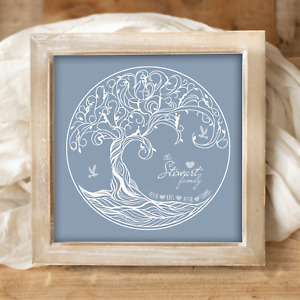 Personalised Family Tree Picture Print. BUILD YOUR OWN Family Christmas Gift!