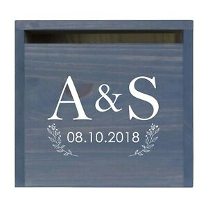 Custom Wedding Wishing Well Card Box For Money Gift Holder - A & S (Flowers)