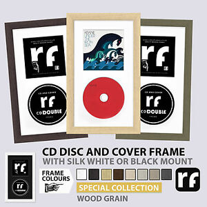 CD Frame for Disc and Cover Light Wood Dark Wood Cream Grey Putty Picture FRAMES