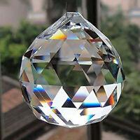 DIY 50MM FENG SHUI HANGING CRYSTAL BALL Sphere Prism Rainbow Suncatcher J7N5
