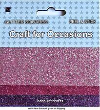 MÉTIER POUR OCCASIONS Peel & Stick paillettes carrés - Pack de 3 différents
