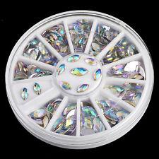 Wholesale Nail Art Wrap Marquise Crystal Glitter Rhinestone Nail Accessories