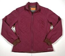 Merrell Womens Quilted Warm Outdoor Winter Coat Burgandy Purple Medium