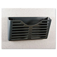 UNIVERSAL Recycled Plastic Cubicle Single File Pocket Black 08162
