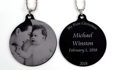 "Metal 2.5"" Photo Ornament - Free Custom Engraving front-and-back"