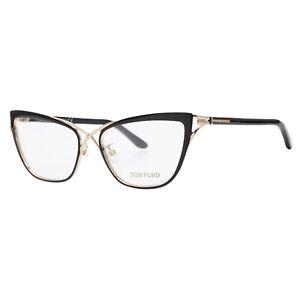 New Authentic Tom Ford 5272 005 Black Gold Women's Cat Eye Eyeglasses 53-15-135