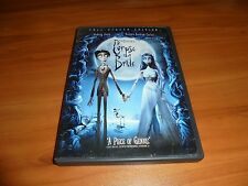Tim Burton's Corpse Bride (DVD, 2006, Full Frame) Johnny Depp Used