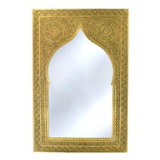Orientalischer Marokkanischer Spiegel Messing Orient Marokko Wandspiegel S04 H41