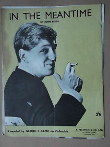 GEORGIE FAME - IN THE MEANTIME sheet music