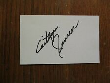 """CAITLYN  JENNER (""""Keeping  Up  With  The  Kardashians"""") Signed  3 X 5 Index Card"""