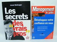 Lot de 2 livres dédicacés Lionel BELLENGER SECRET VRAIS PROS / Dév. Confiance