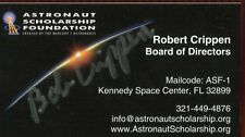 Robert Bob Crippen NASA Astronaut Signed Business Card Authentic Autograph Auto