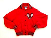Vtg 1980's Chicago Bulls Basketball Nylon Holloway Jacket Coat like Starter