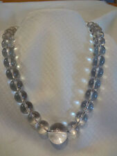 Fabulous Vintage Art Deco Pools Of Light Rock Crystal Necklace