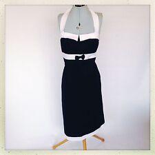 Cotton Blend Halterneck Party Patternless Dresses for Women