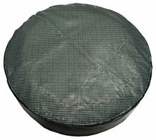 """1964-81 GM Trunk Luggage Compartment Spare Spair Tire Cover Aqua Houndstooth 14"""""""