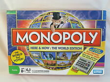MONOPOLY Here & Now THE WORLD EDITION HASBRO 2008 EXCELLENT CONDITION @@