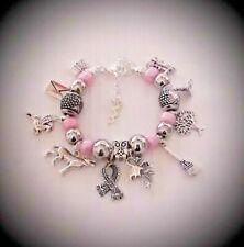 Charm BRACELET Harry Potter Inspired Themed Animals Pink Beads Girls Fan Gift