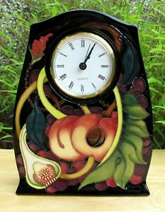 Moorcroft Queens Choice Clock CL3 First Quality RRP £400 Fruit foliage E.Bossons