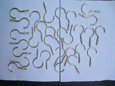 """30-CUP HOOKS 2"""" BRASS PLATED PICTURE/PLANT HANGER KEYS & JEWELRY HOLDER NEW"""