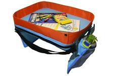 Waterproof Kids Car Seat Travel Lap Tray with Cup holder Mesh Pockets