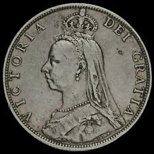 More details for 1890 queen victoria jubilee head silver florin, rare, vf