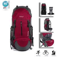 Outdoor Rucksack Backpack Camping Hiking Climbing Trekking Bag 60L Backpack Bag