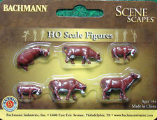 Bachmann Trains Scene Scapes HO Scale Figures Brown and White Cows # 33102