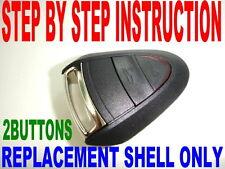 NEW SHELL FOR PORSCHE KEY FOB CASE DIY INSTRUCTION CHIP KEYLESS ENTRY REMOTE 2BT