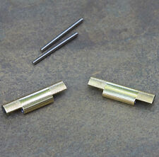 NSA band gold-plated NOS end pieces 10mm center 18mm 19mm 20mm 22mm or 24mm ends