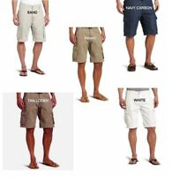 men's cargo hiking golf shorts in 2 sizes of large and XL 4 colors new with tags